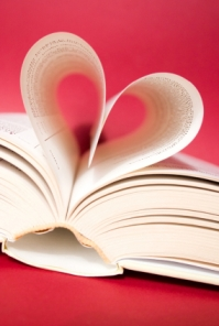 Pages curved into heart